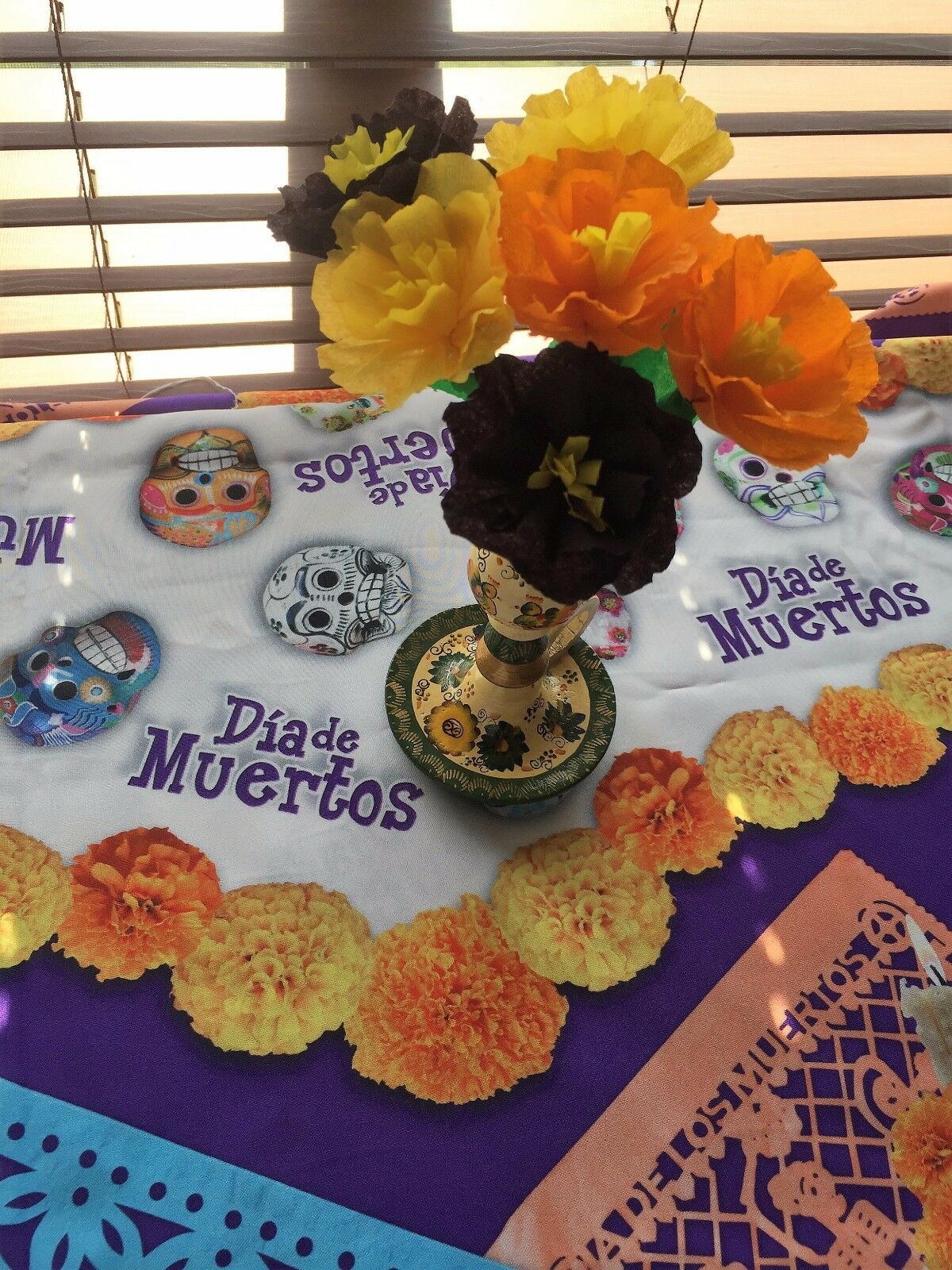 Set of 6 day of the dead dia de los muertos mexican crepe paper 1 of 9 mightylinksfo