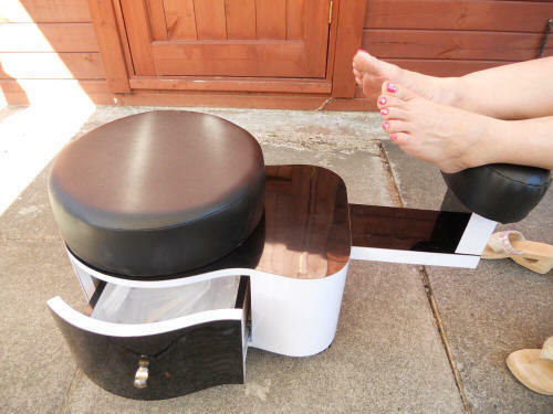 Jk Pedicure Stool Pedicat Station Color White Black 163