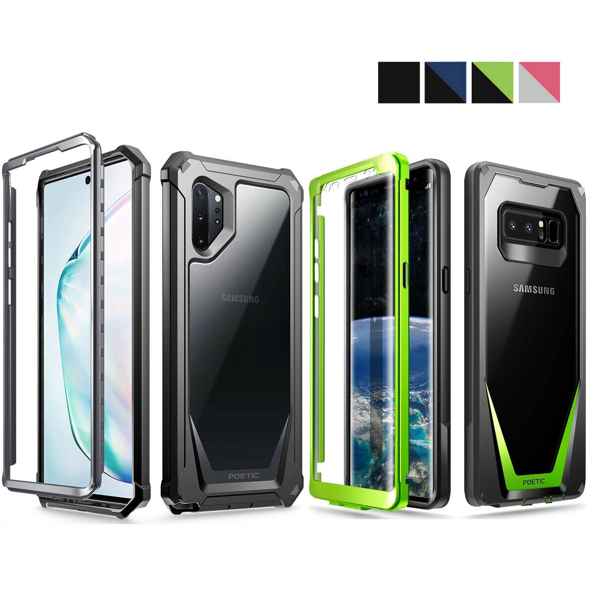 Case For Samsung Galaxy Note 8 9 Poeticguardian360 Degree Xiaomi Redmi 5 Pro Hardcase 360 Full Protective Protection 1 Of 7free Shipping