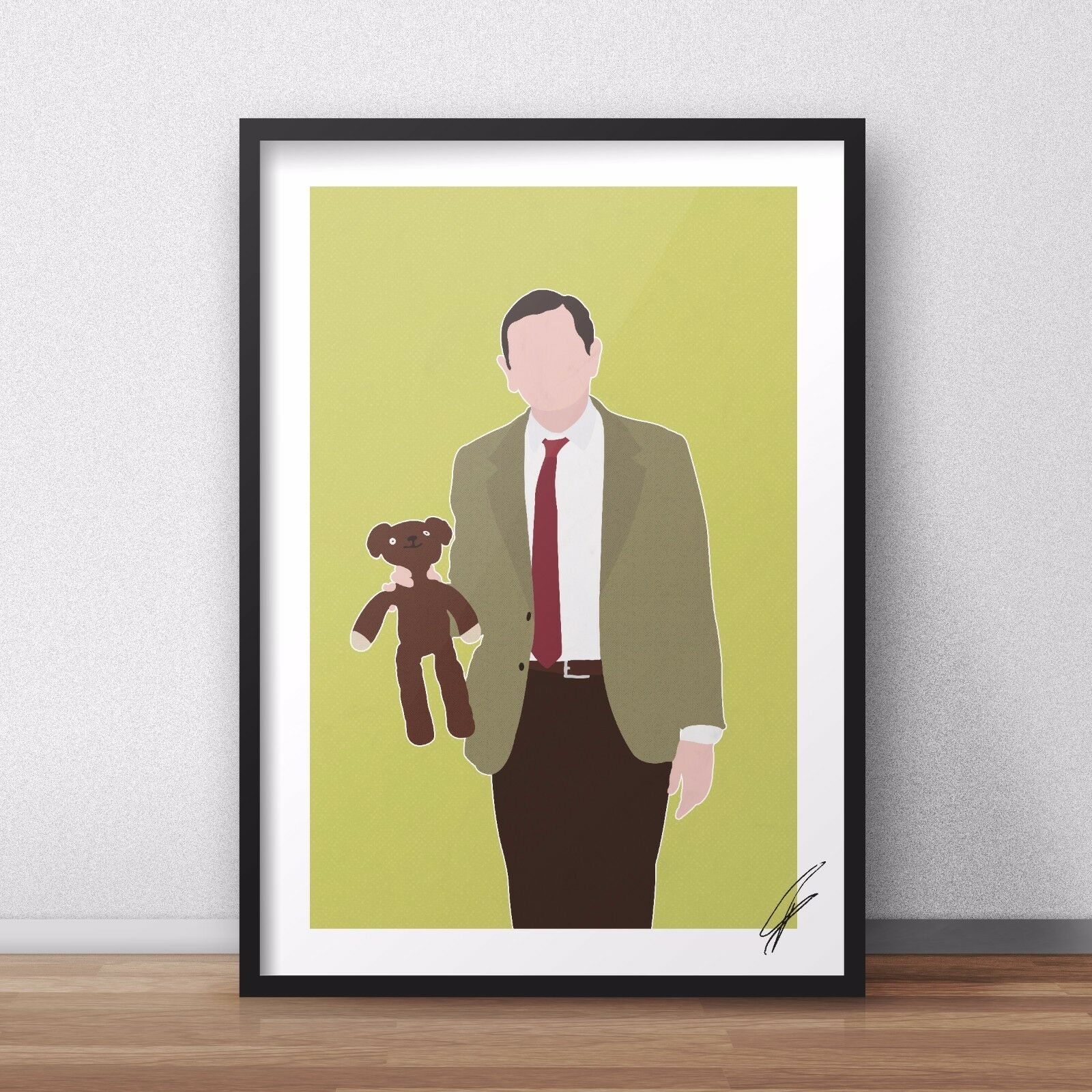 MR BEAN INSPIRED WALL ART Print / Poster Minimal A4 A3 rowan ...
