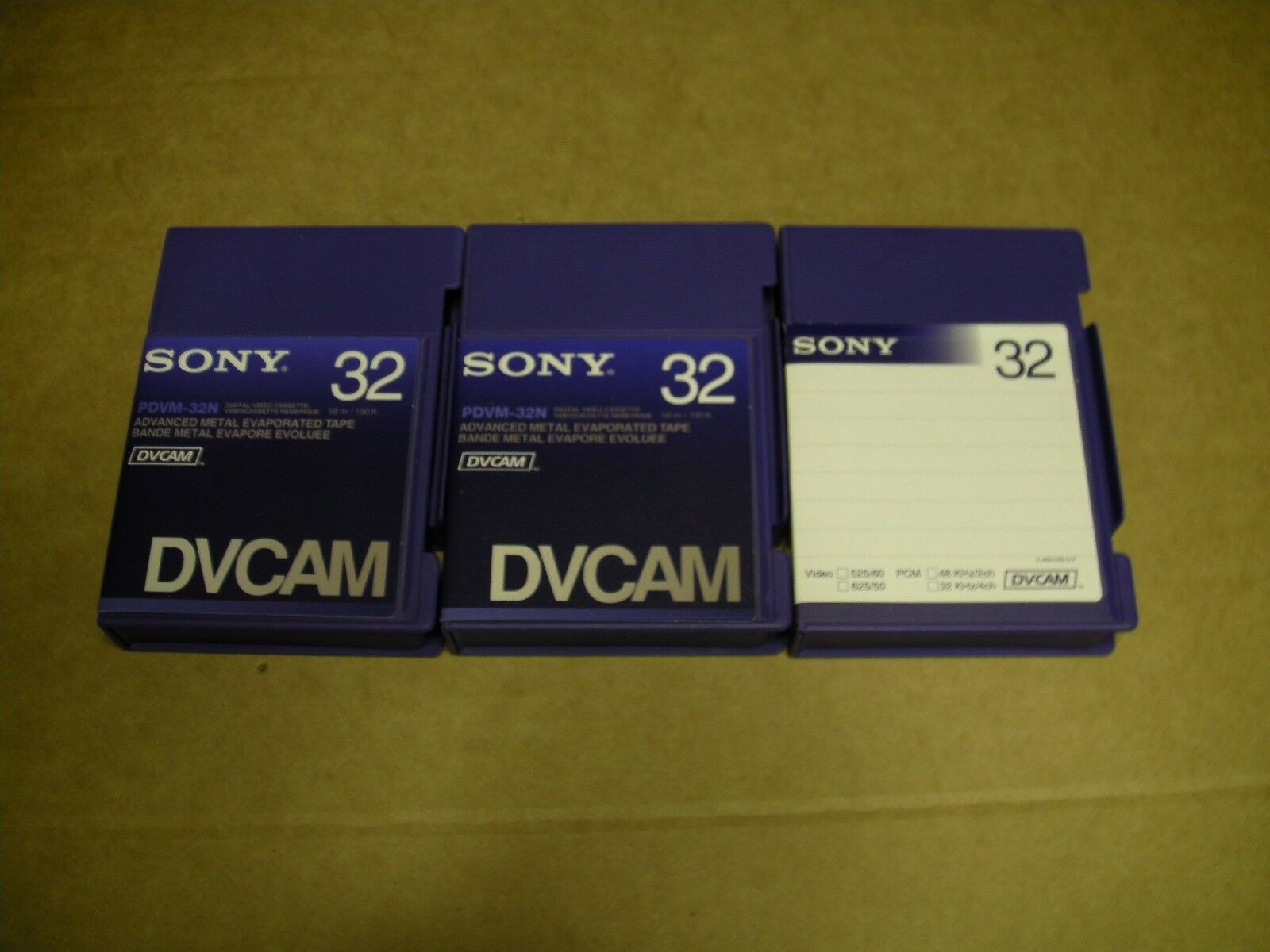 Sony Professional Ame 32min Dv Cam Tapes Packs Of 3 163 8