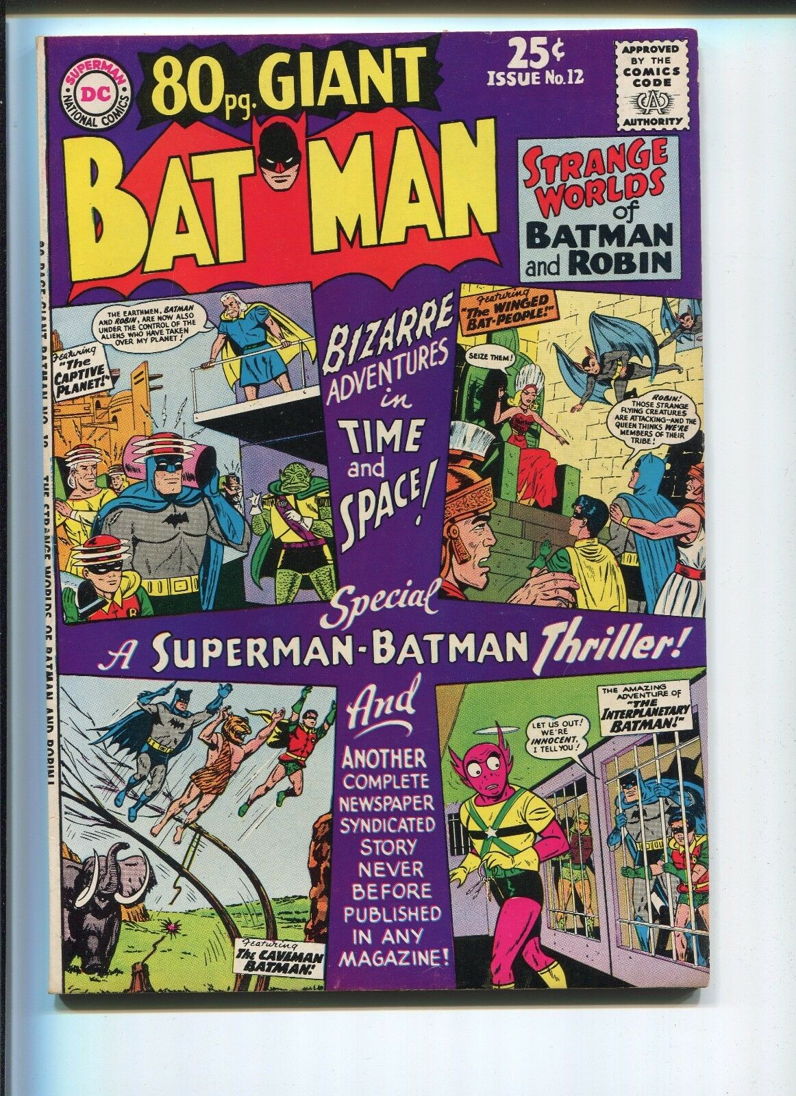 batman 80 page giant 12 9 0 vf nm nice spine one owner nice pages