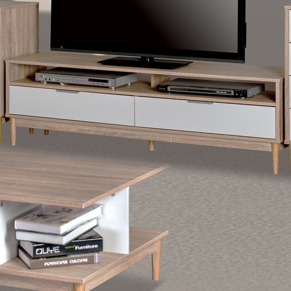 style home tv tisch fernsehtisch fernsehschrank lowboard holz sh48m15036 wie eur 101 11. Black Bedroom Furniture Sets. Home Design Ideas