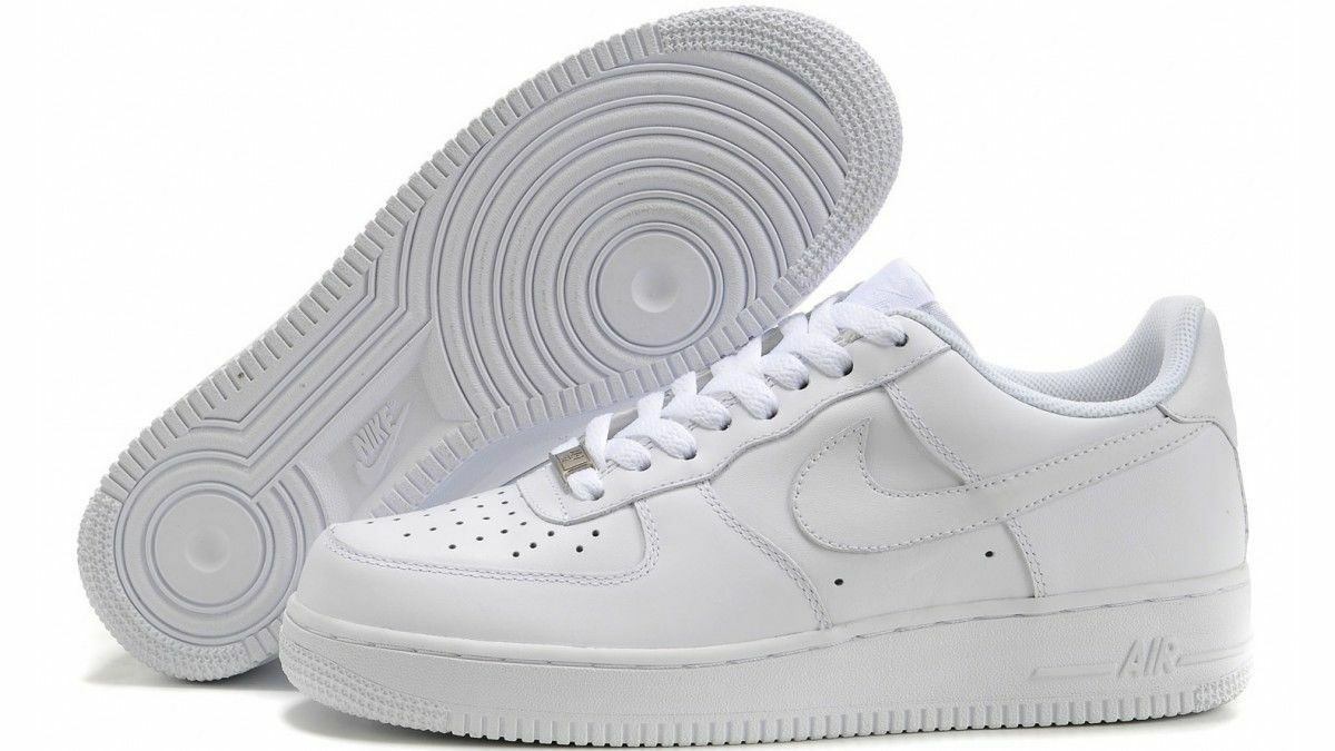 NIKE AIR FORCE 1 GS scarpe donna sneakers basse running sportive pelle bianche 1 sur 3Seulement 1 disponible ...