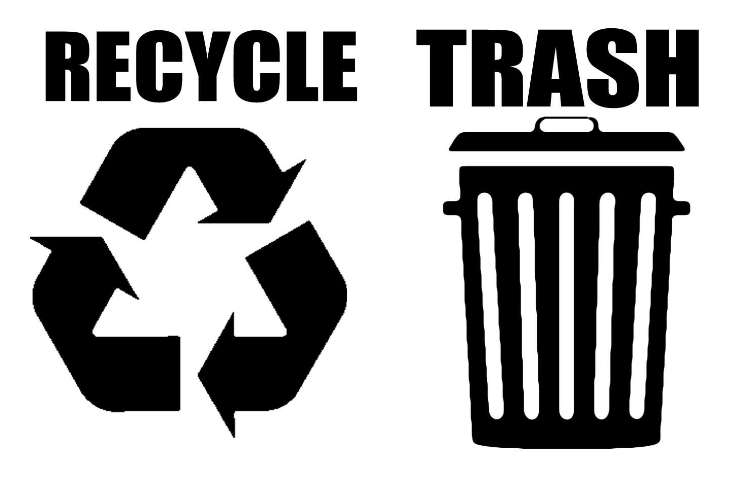 Recycle Trash Symbol Decals Sticker Logos For Home Office Choose