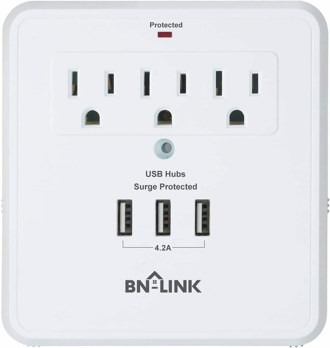 Century Wall Mount Surge Protector With Triple Usb Charging Ports 3 Cooper Wiring Devices 15 Amp Decorator Electrical Outlet Outlets 1 Of 2free Shipping