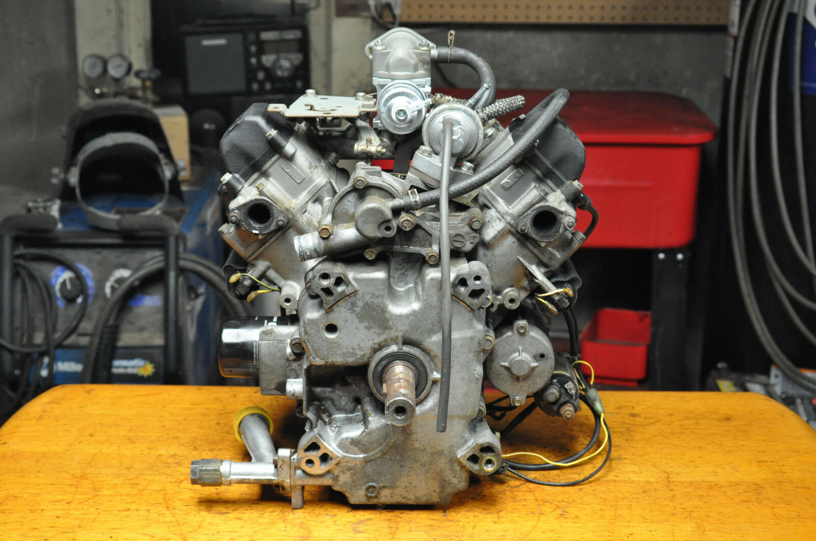 John Deere 345 Complete Engine Kawasaki Fd590v Bs04 18hp 1 Of 9free Shipping See More