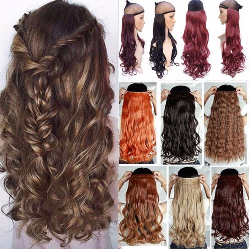 34 Full Head Mega Thick Piece Clip In Hair Extensions Long As Human