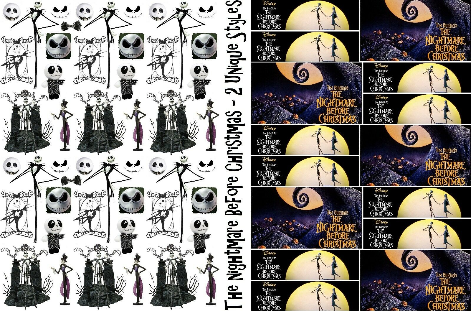 NIGHTMARE BEFORE CHRISTMAS Wrapping Paper, Size A1/A2/A3, Jack ...