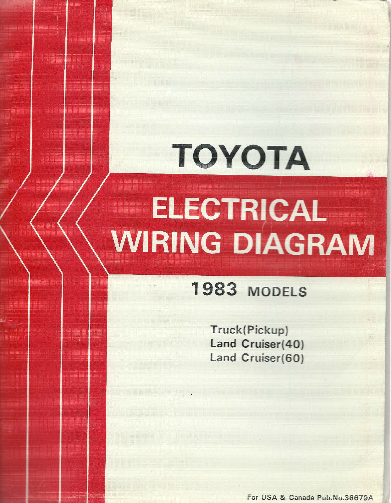 1983 Toyota Land Cruiser Fj Bj 40 Series Electrical Wiring Diagram 1 Of 10only 4 Available Repair Manual
