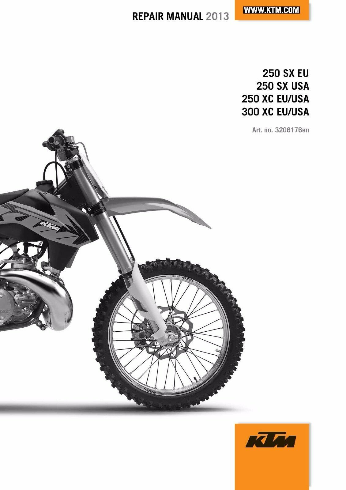 KTM Service Workshop Shop Repair Manual Book 2013 300 XC 1 of 12 See More