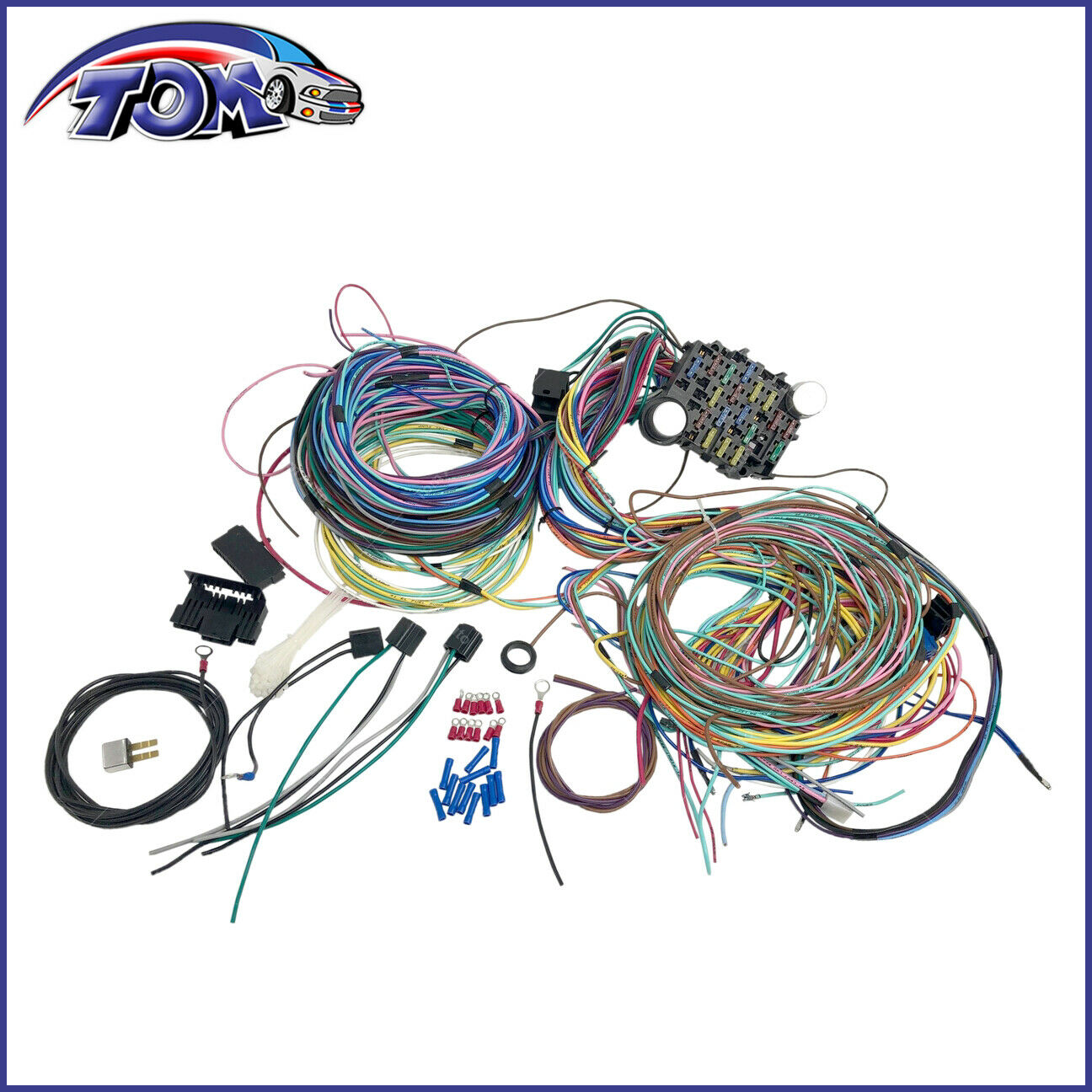 Wiring Harness Extra Wires Schematics Diagrams Painless 18 Circuit Universal 21 Chevy Mopar Ford Hotrods Rh Picclick Com Motorcycle