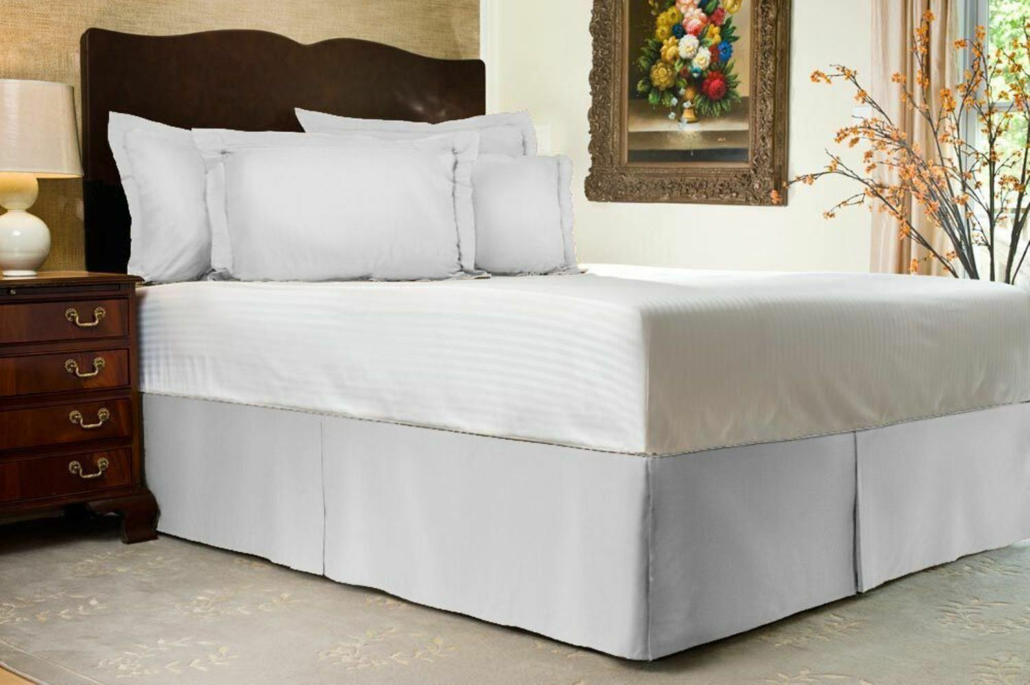 Bed Skirt Select Drop Length All Us Size White Solid 1000 Tc Egyptian Cotton 1 Of 1free Shipping See More