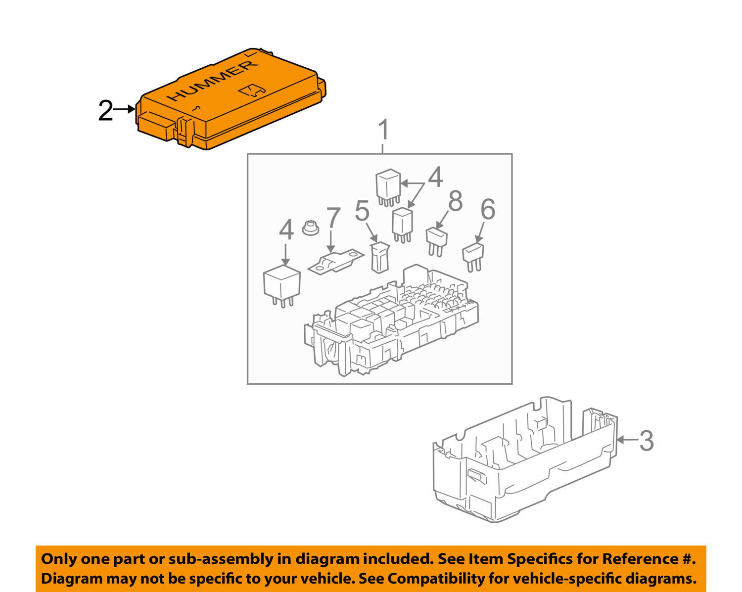 Hummer Gm Oem 2006 H3 35l L5 Fuse Relay Box Upper Cover 15844337 06 1 Of 2only 3 Available