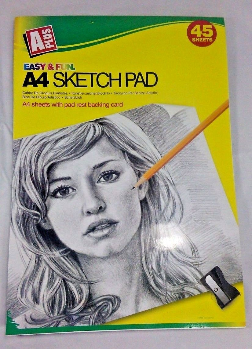 A4 artist art drawing sketch sketching pencil charcoal pad book white paper 1 sur 1 voir plus