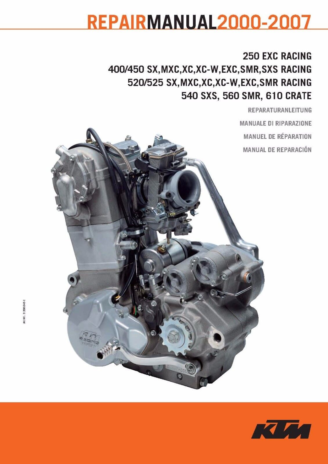 KTM Engine Service Workshop Shop Repair Manual Book 2005 450 EXC 1 of  12FREE Shipping ...