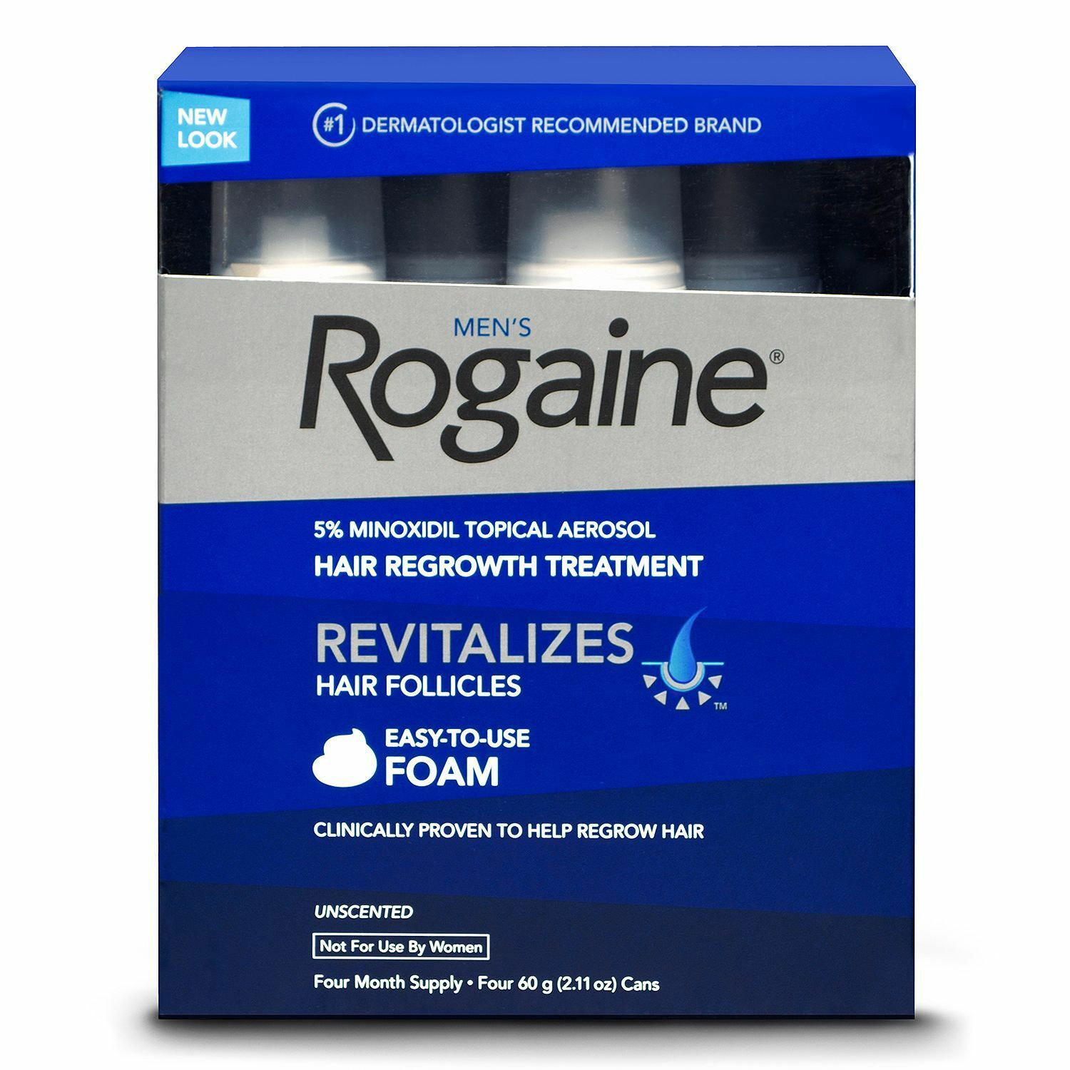 4 Month Supply Rogaine Hair Regrowth For Men 5 Minoxidil Topical Foam Aerosol Exp 1 Of 3only Available See More