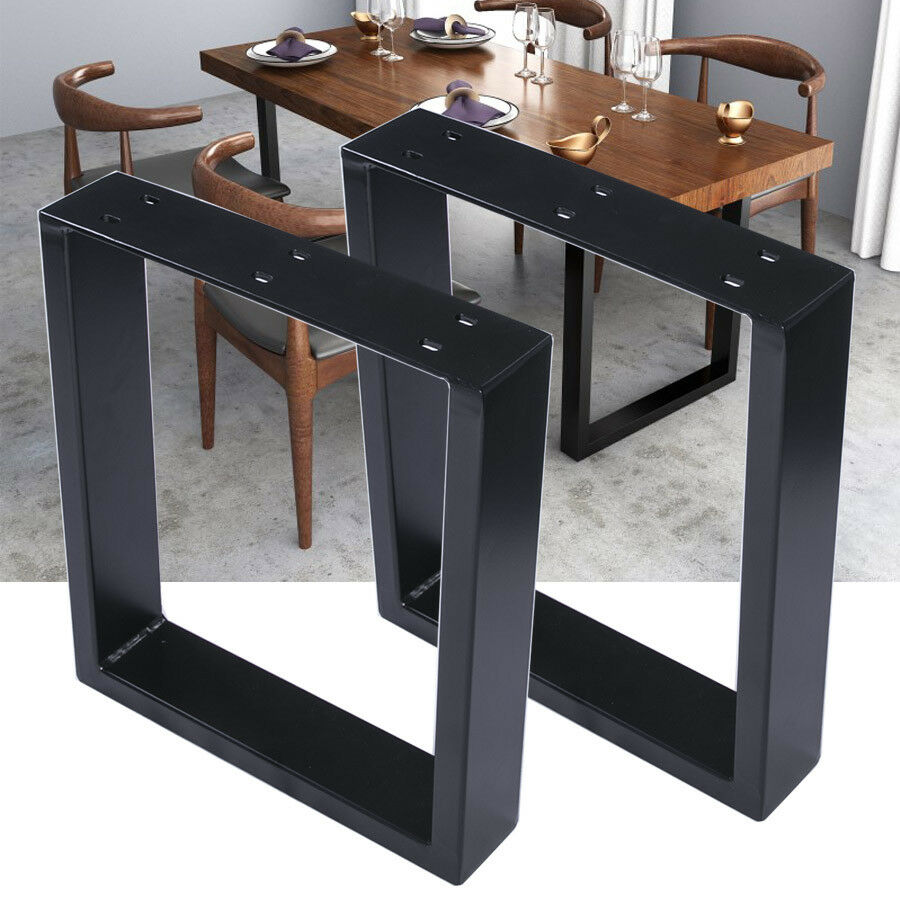 2x Heavy Duty Steel Box Shape Table Legs 40cm Height Black Coated Au 1 Of 6free See More