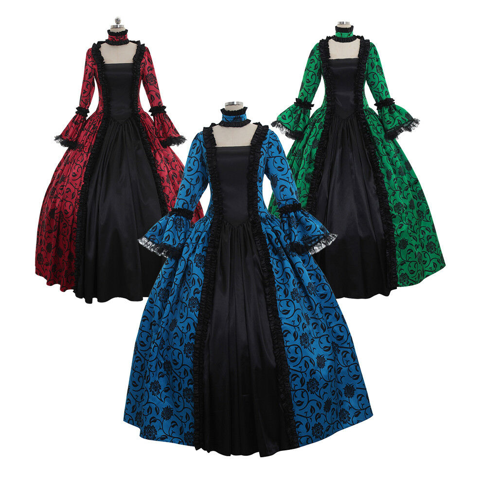 18TH CENTURY MARIE Antoinette Colonial Gown Dress Rococo dress ...