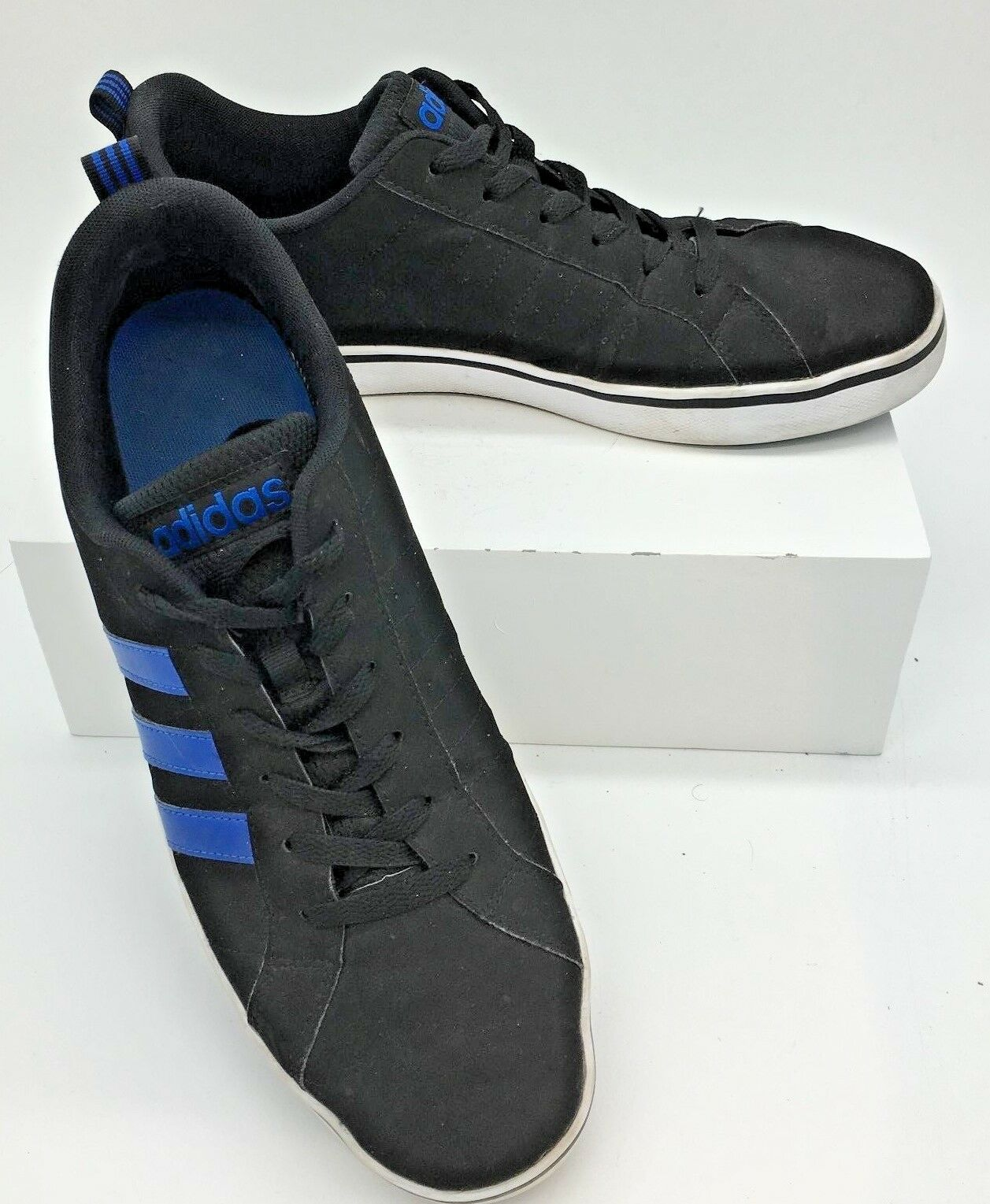 new products 0bb82 be78e Adidas Neo Pace VS Black  Blue Shoes Mens US Size 11 EU Size 45.5 AW4591 1  of 7Only 1 available ...