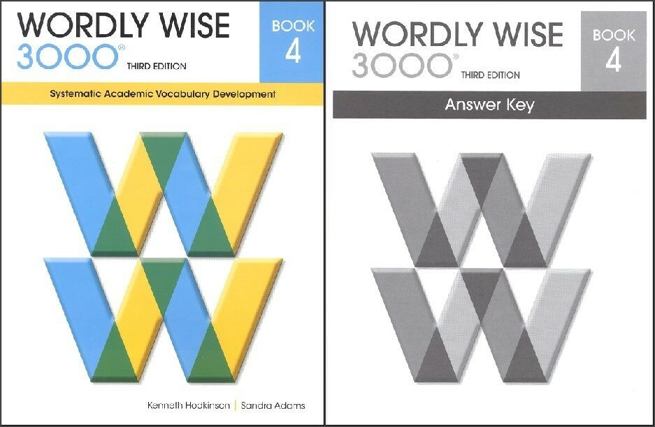 Wordly wise 3000 grade 4 set student and key new 3rd edition 1 of 1 see more fandeluxe Images