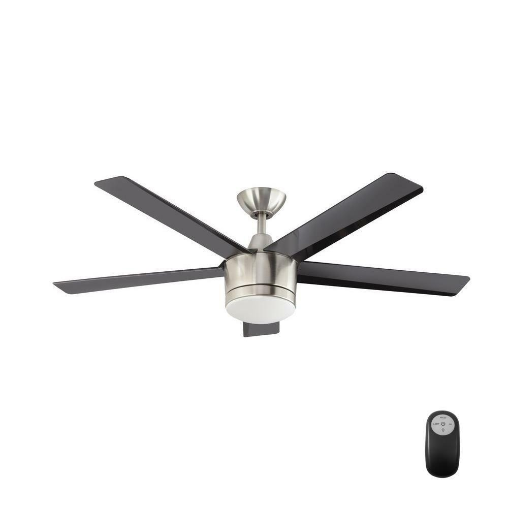 Home Decorators Merwry 52 Brush Nickel Led Ceiling Fan Replace Parts 1001028991 1 Of 9free See More