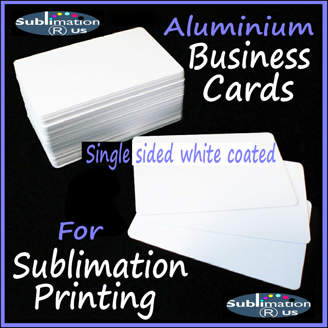 85mm x 55mm sublimation metal business cards small sheets 1 of 1 see more reheart Gallery