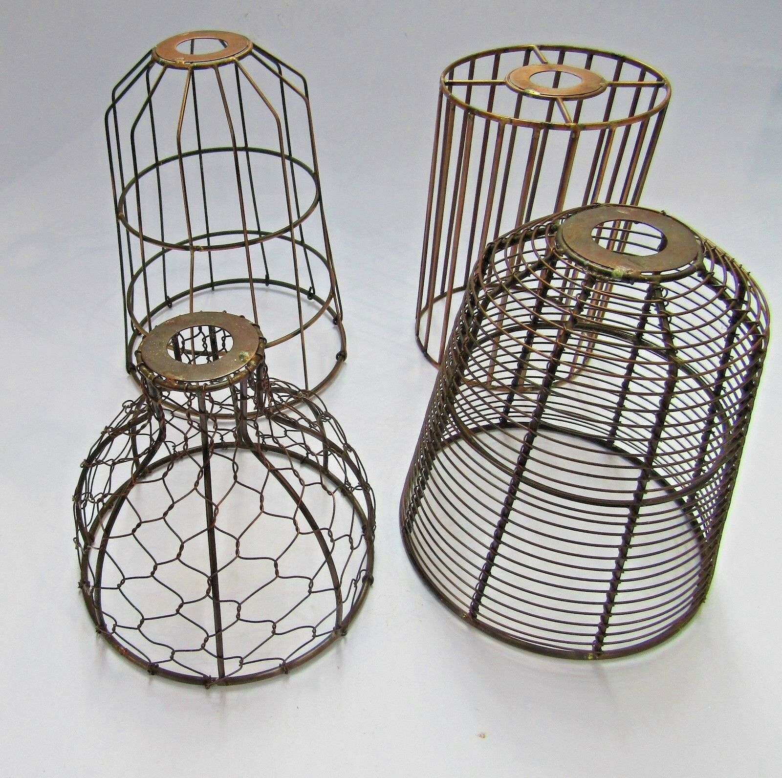 WIRE LAMPSHADE INDUSTRIAL rustic Vintage Retro Old ceiling pendant ...