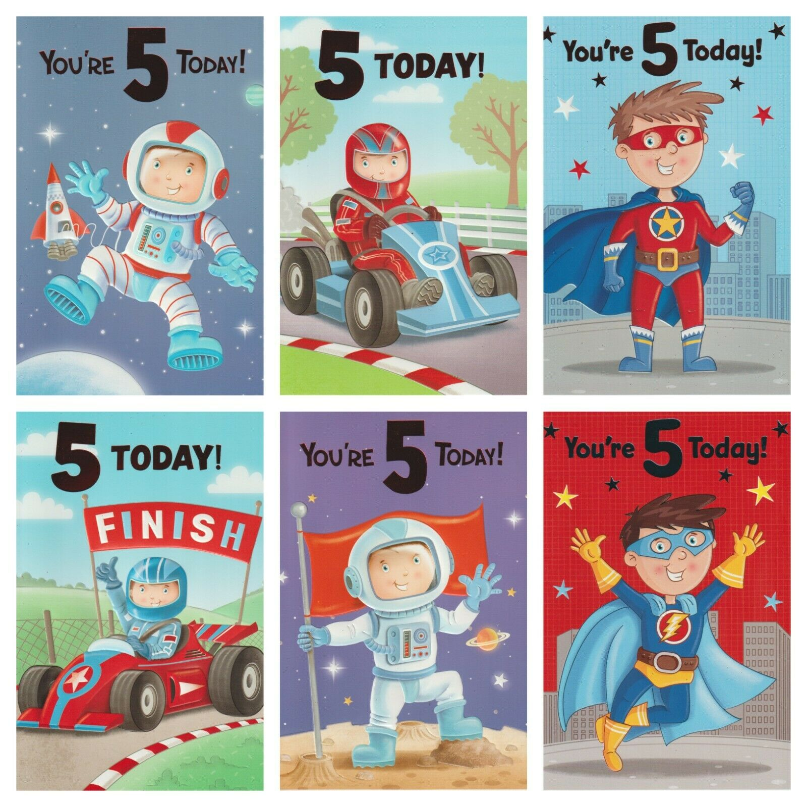 Age 5 Boys Birthday Card Today Youre Choice Of Cards 1 2FREE Shipping