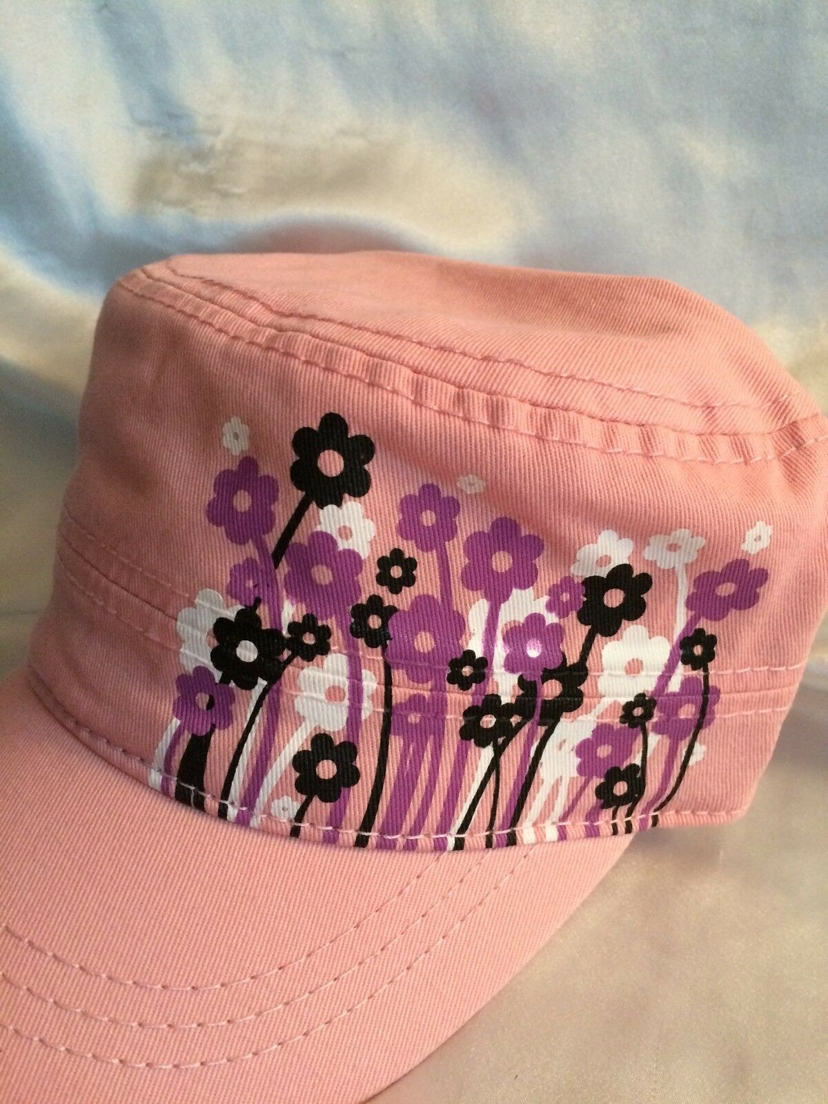 PUGS Gear-The Shelby-Cadet Military Style Cap-Pink Wild Flowers-Women s 1  of 3FREE Shipping PUGS Gear-The ... 82af7e1f7