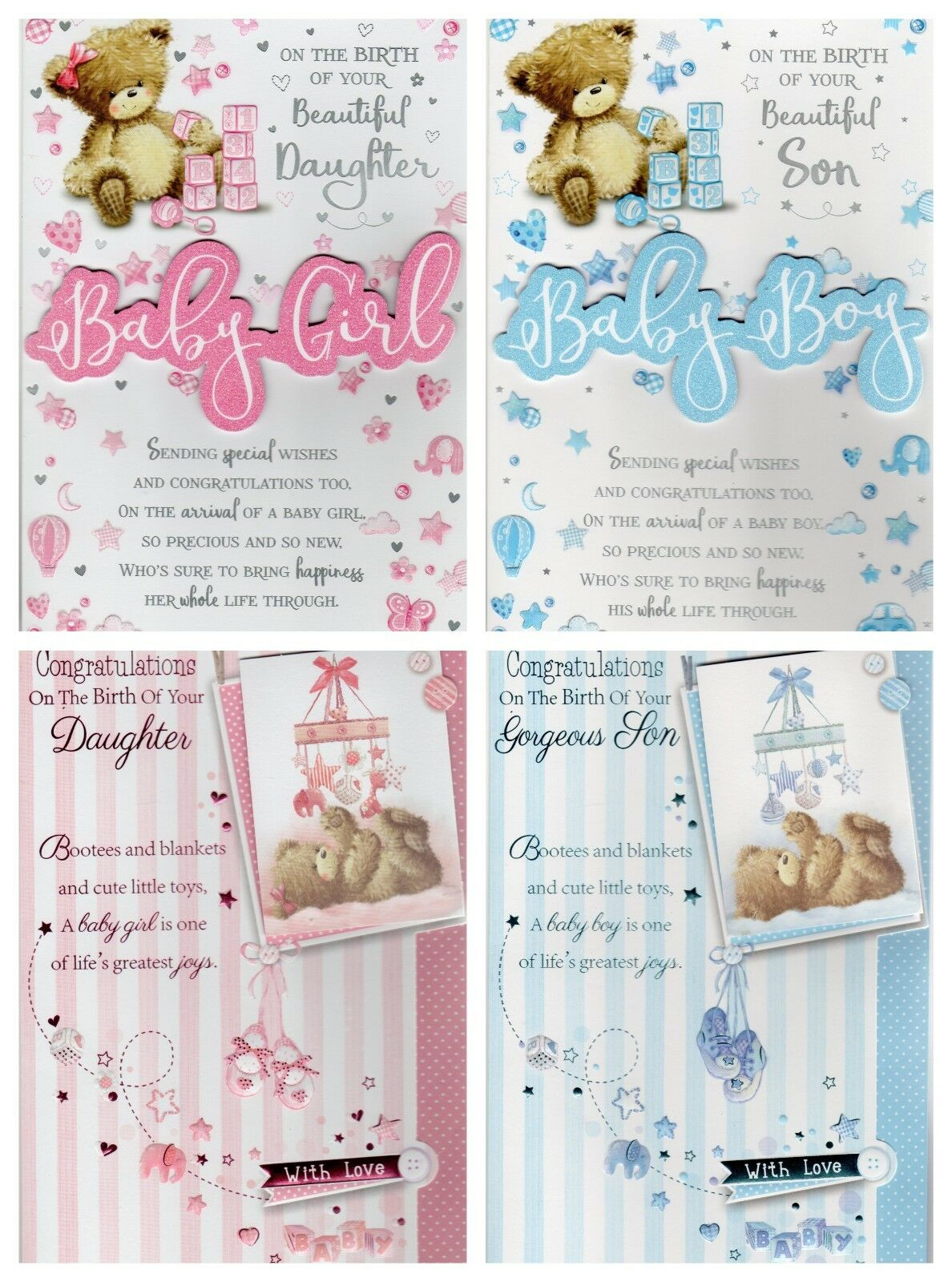 New Baby Greeting Card Congratulations On The Birth Of Your Son