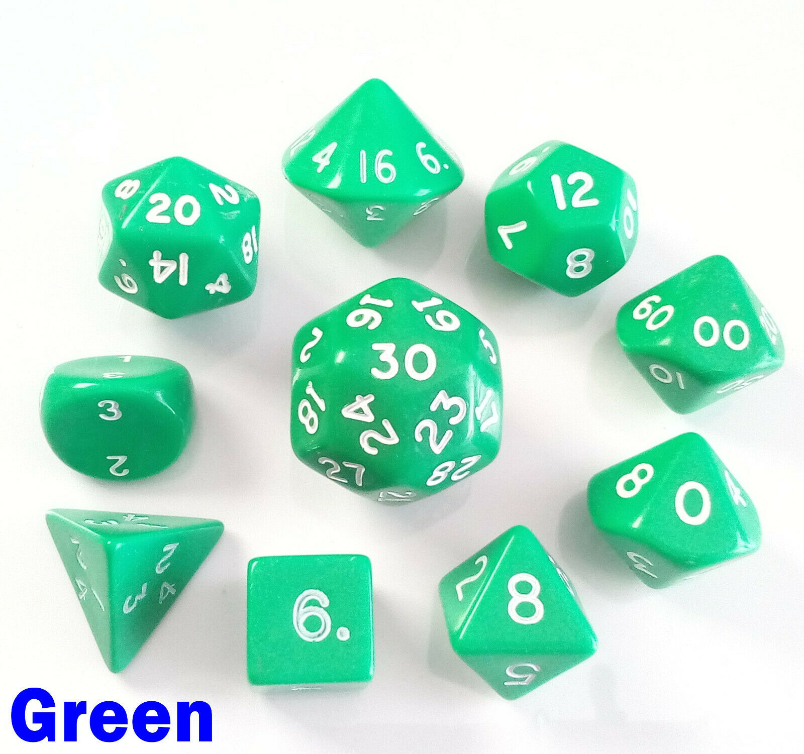 Opaque Poly D3 Dice 1 2 3 4 5 Set White 3 Sided Die Dungeons Dragons RPG 5e D/&D
