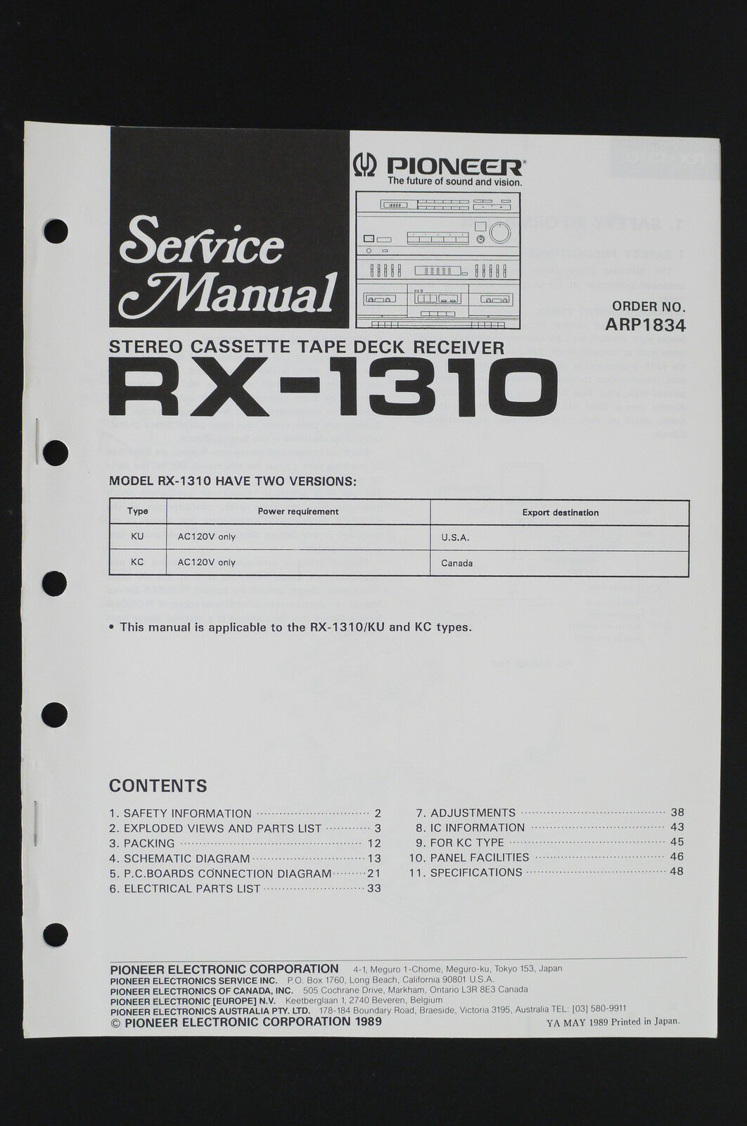 Pioneer rx 1310 original tape deck receiver service manualwiring pioneer rx 1310 original tape deck receiver service manualwiring diagram o106 asfbconference2016 Choice Image