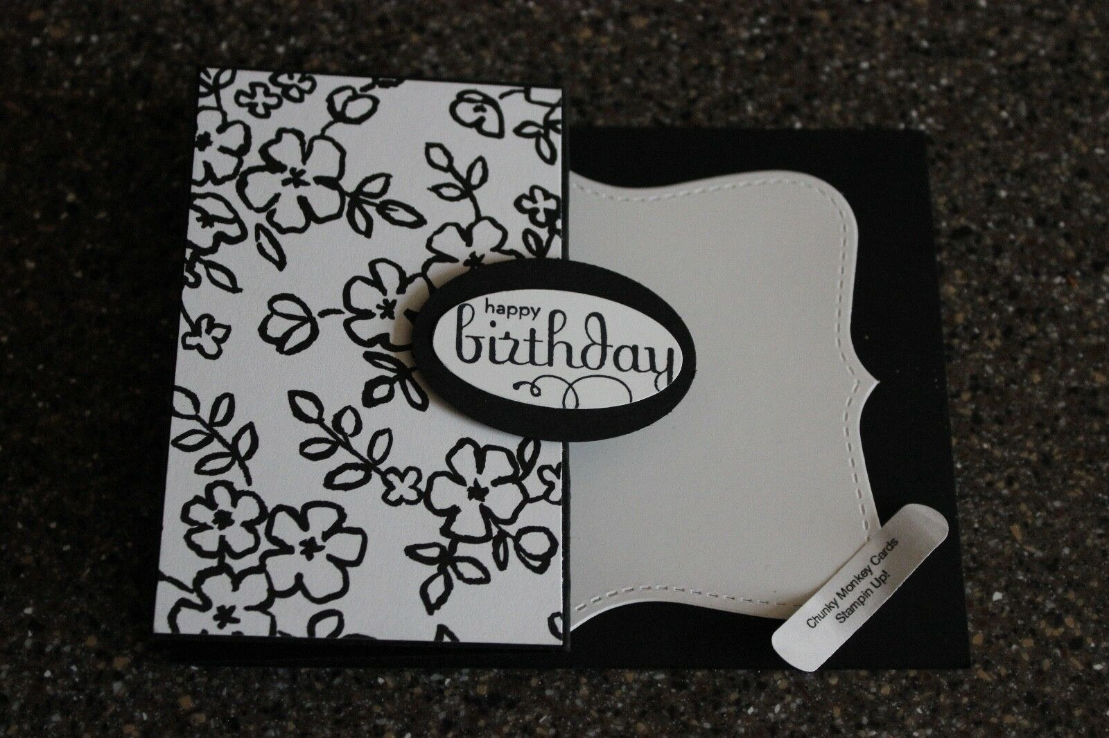 Stampin Up Happy Birthday Homemade Greeting Card 7177 Petal