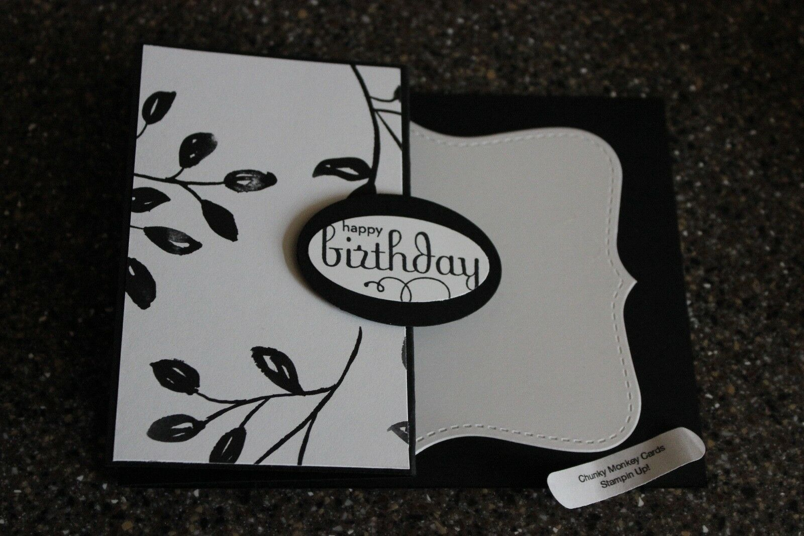 Stampin Up Happy Birthday Homemade Greeting Card 7183 Petal