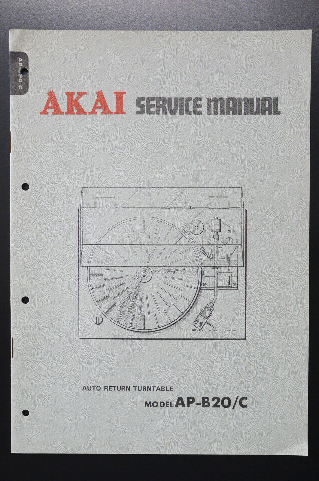 Akai Ap B20 C Original Service Manual Wiring Diagram Turntable 1 Of See More