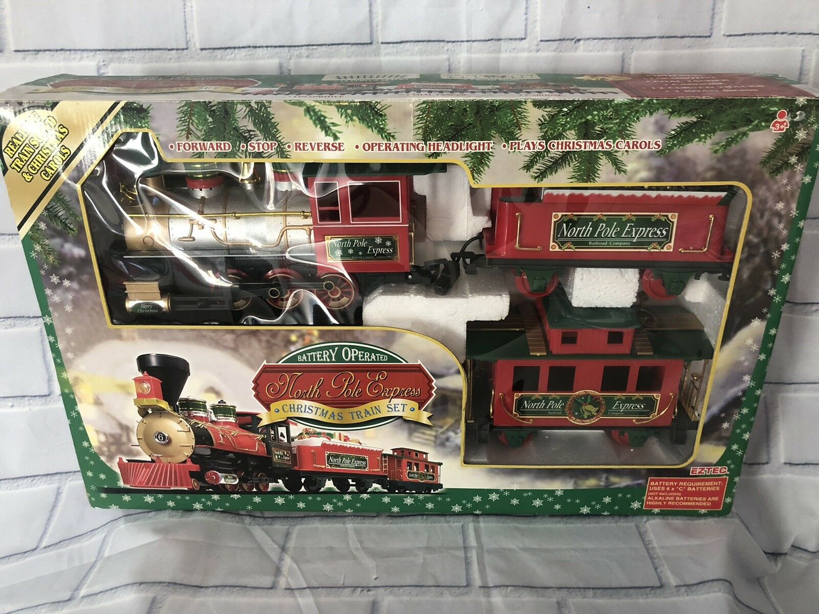 EZTEC NORTH POLE Express Christmas Train Set 22 Pieces Working ...