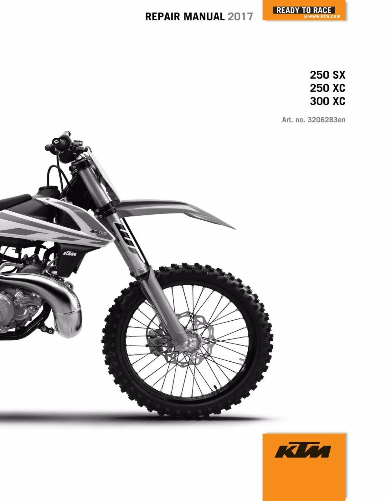 KTM Service Workshop Shop Repair Manual Book 2017 300 XC 1 of 12Only 1  available ...