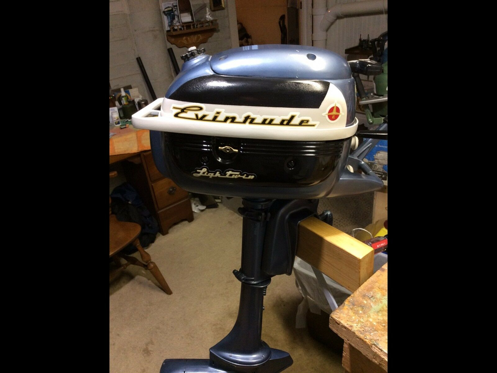Evinrude lightwin 3 hp Outboard Boat Motor 1957 1 of 12 See More