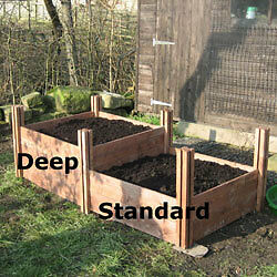 Deep Fsc Wooden Raised Garden Bed With 240l Vegetable Compost Plants Flowers