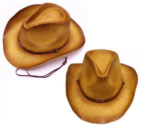 BROWN TONE COWBOY HAT W CURL UP SIDES western hats NEW