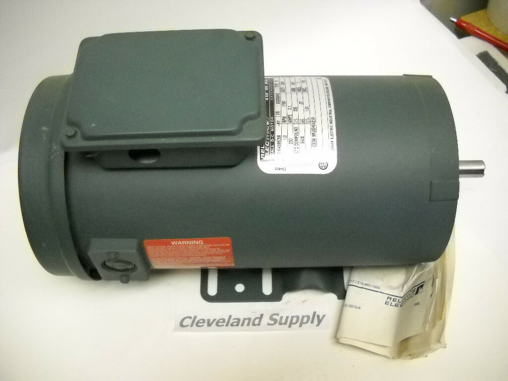 Reliance Electric 01ka598058 Rpm Xl Dc Motor 1 2hp 1750 Rpm 230v New Condition Picclick