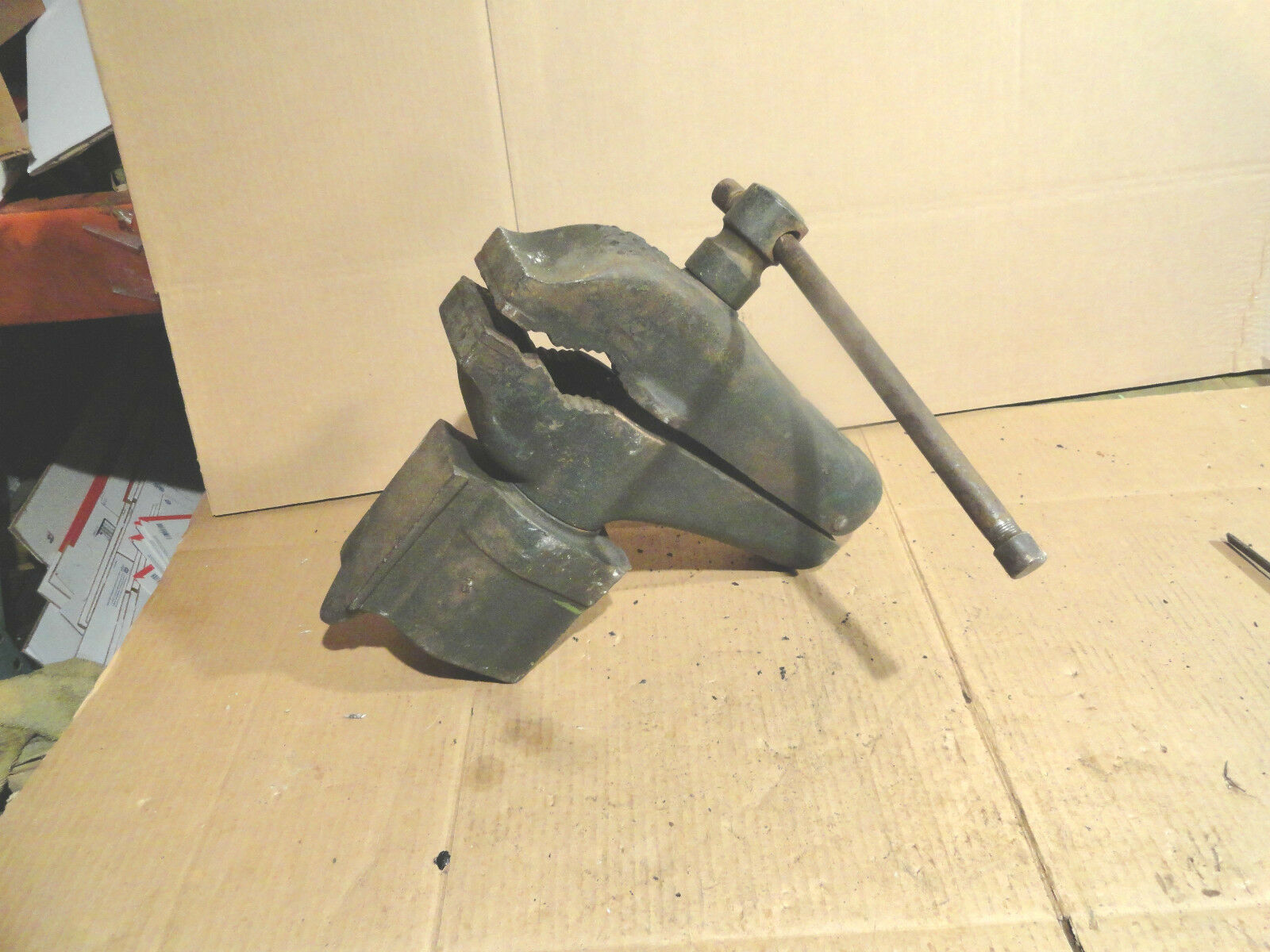 Vintage Cole 11 Bench Vise Anvil Old Blacksmith Machinist Tool Chicago Heights