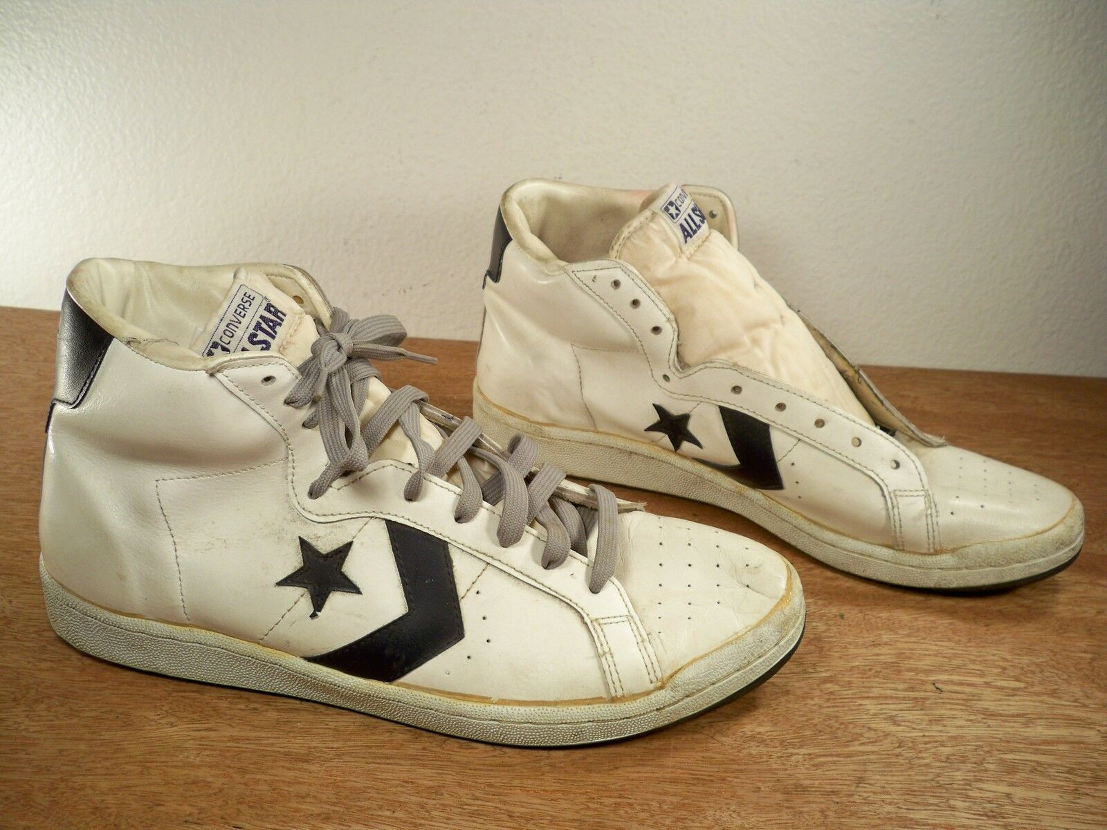 vintage converse all high top basketball leather