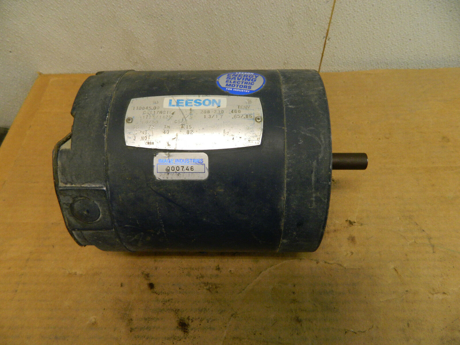 Leeson cst17nc1e electric motor 1 3hp 1 3 hp 208 230 460v for 3 hp electric motor