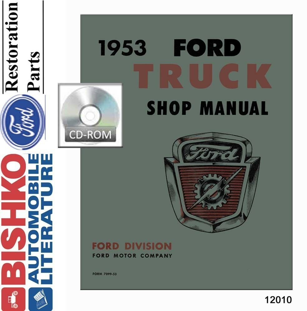 1953 Ford Truck Full Line Shop Service Repair Manual CD Engine Drivetrain  OEM 1 of 1Only 1 available ...