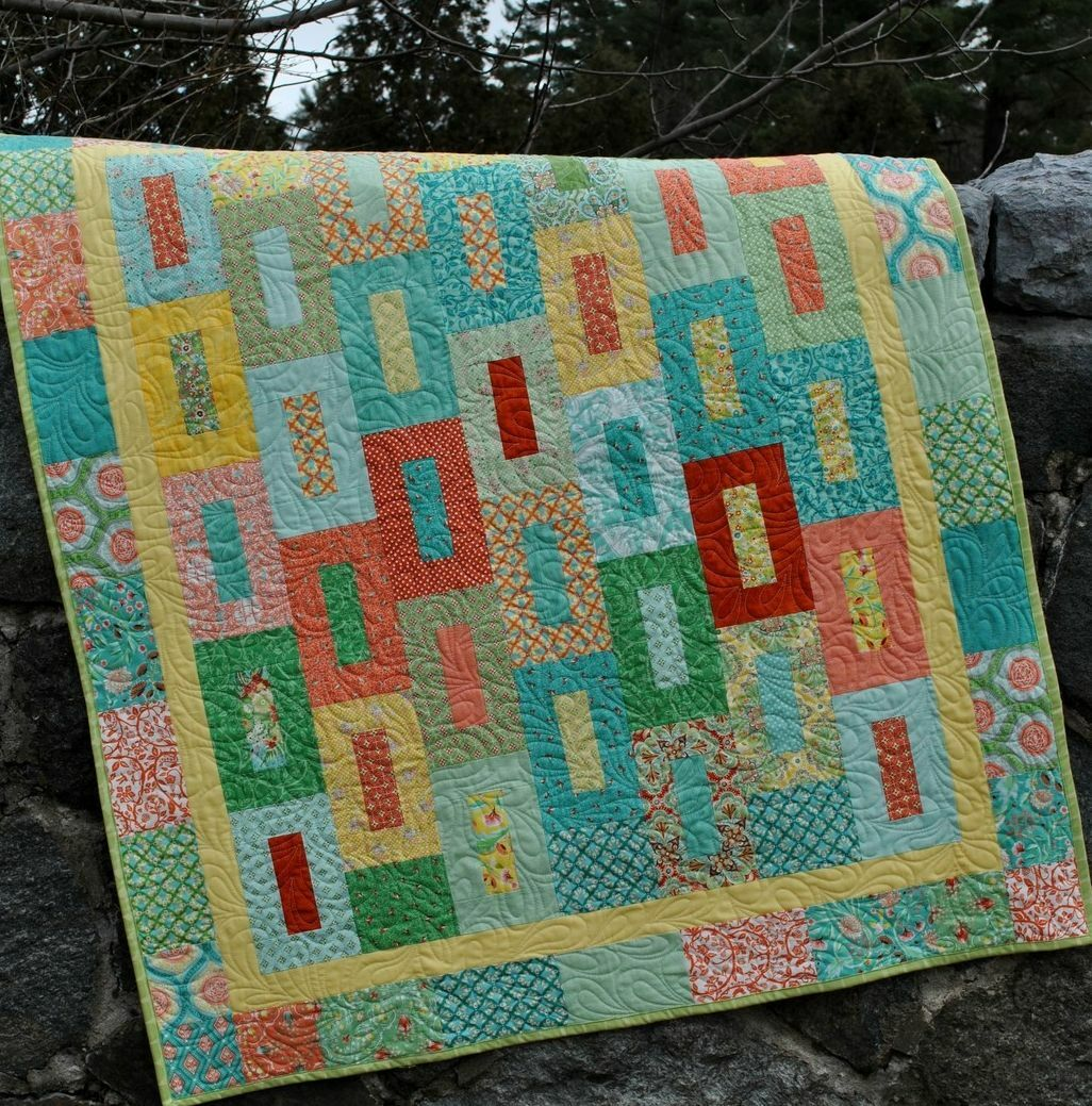 how to make a quilt with fat quarters