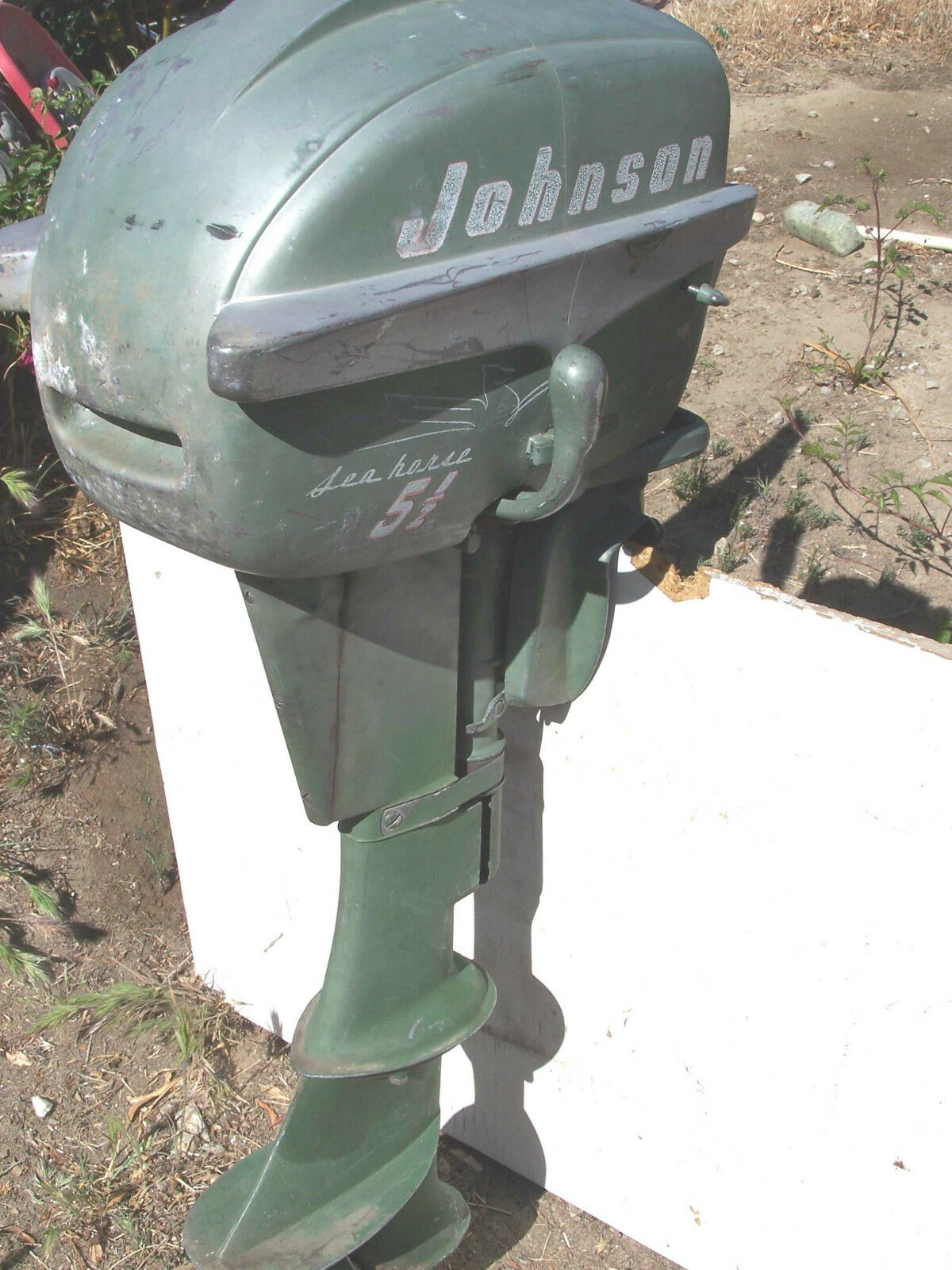 Vintage johnson seahorse 5 5 hp outboard boat motor 100 for 55 johnson outboard motor