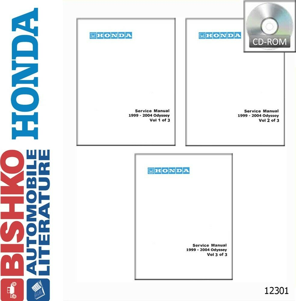 1999 2000 2001 2002 2003 2004 Honda Odyssey Shop Service Repair Manual CD 1  of 1Only 1 available ...