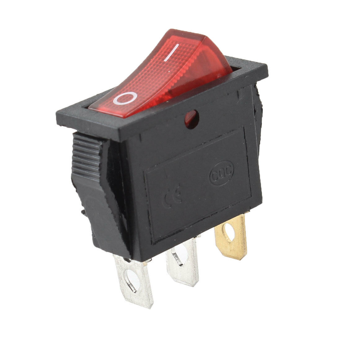 Spst 3 Pole Red Button On Off Rectangle Rocker Switch Ac 30a 125v Leviton White Decora Triple Wall Light Triplex 15a 1755 1 Of 1free Shipping